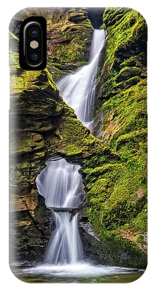 St Nectan's Kieve Waterfall, Cornwall Phone Case by David Ross