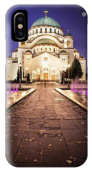 St. Sava Temple In Belgrade Nightscape IPhone Case