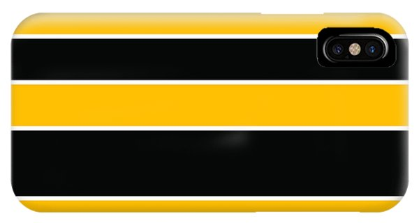 Stacked - Black And Yellow IPhone Case