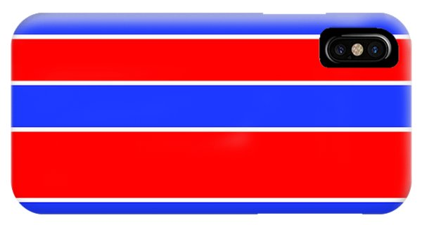 Stacked - Red, White And Blue IPhone Case