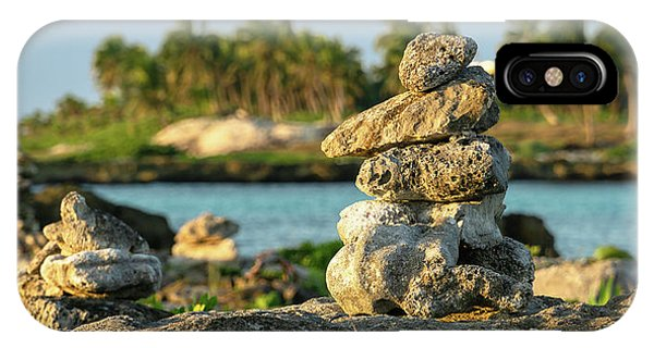 Stacked Rocks On Mexico Beach IPhone Case