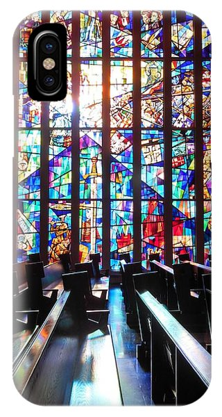 Stained Glass Historical Our Lady Of Czestechowa Shrine IPhone Case