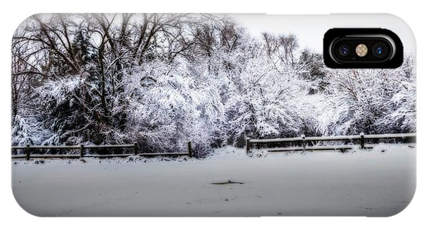 IPhone Case featuring the photograph Standing Bear Lake Coated In Snow by Edward Peterson