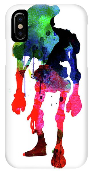 Film iPhone Case - Star Droid Watercolor 1 by Naxart Studio