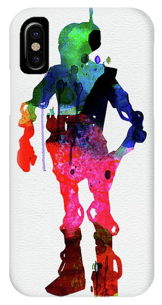 Film iPhone Case - Star Droid Watercolor 2 by Naxart Studio