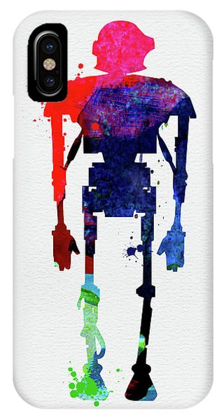 Film iPhone Case - Star Droid Watercolor 3 by Naxart Studio