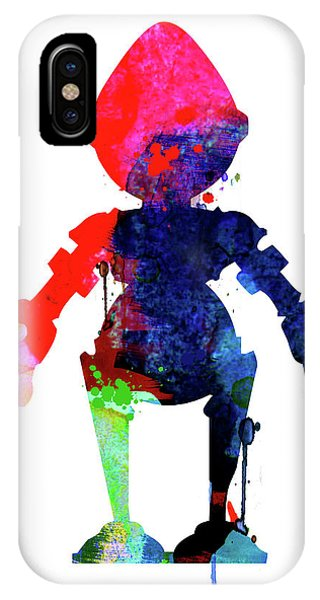 Film iPhone Case - Star Droid Watercolor 4 by Naxart Studio