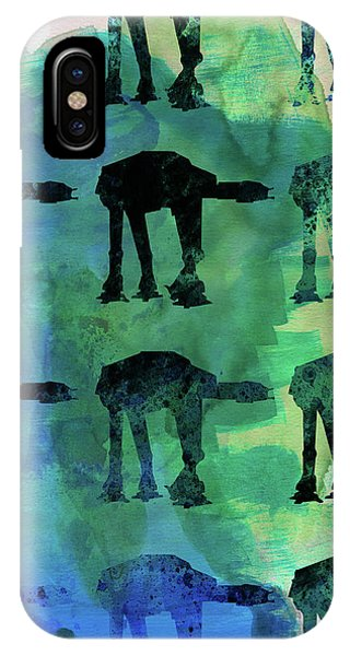 Film iPhone Case - Star Ground Warrior Collage Watercolor 1 by Naxart Studio