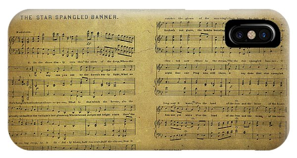 Star Spangled Banner Vintage Sheet Music IPhone Case