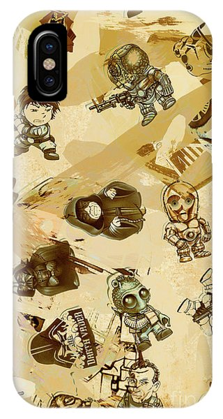 Gallery Wall iPhone Case - Star Wars Sticker Wall by Jorgo Photography - Wall Art Gallery