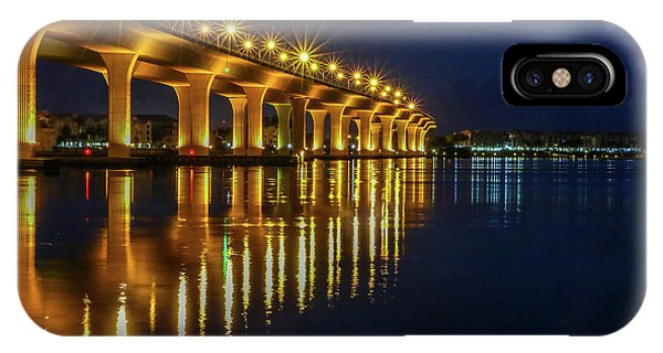 Starburst Bridge Reflection IPhone Case