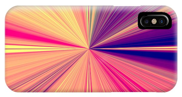 Starburst Light Beams In Abstract Design - Plb457 IPhone Case