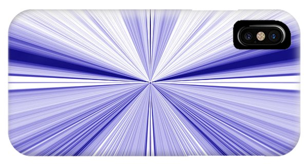 Starburst Light Beams In Blue And White Abstract Design - Plb455 IPhone Case