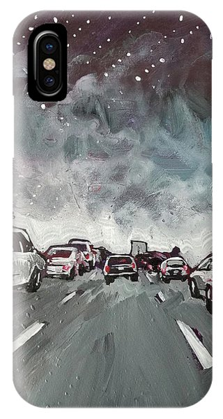 Starry Night Traffic IPhone Case