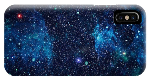 Space iPhone Case - Starry Outer Space Background Texture by Zakharchuk