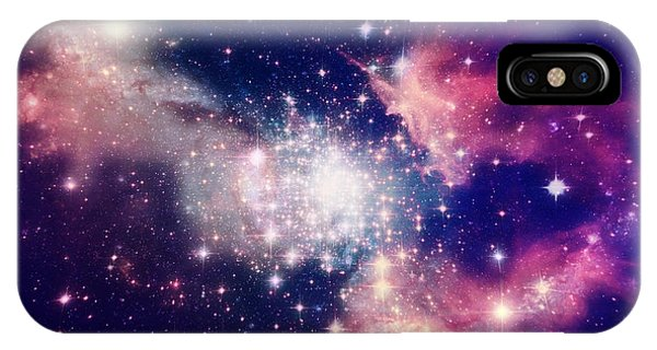 Astronomy iPhone Case - Stars Of A Planet And Galaxy In A Free by Anatolii Vasilev
