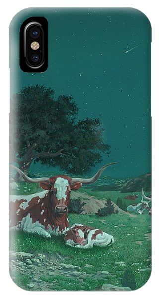 Stars Over Texas IPhone Case