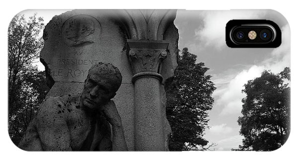 IPhone Case featuring the photograph Statue, Pondering by Edward Lee