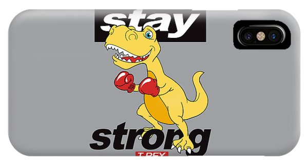 Stay Strong - Baby Room Nursery Art Poster Print IPhone Case