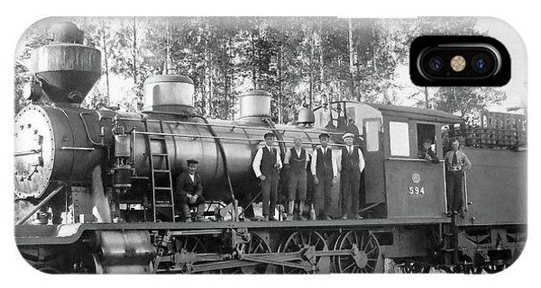 Steam Engine Locomotive 594 Finland IPhone Case