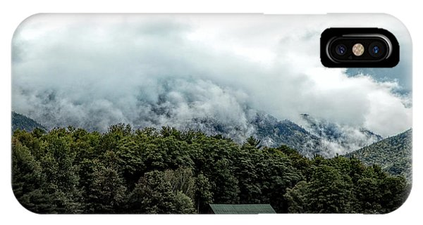 Steaming White Mountains IPhone Case