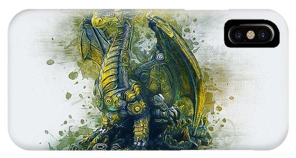 Steampunk Dragon IPhone Case
