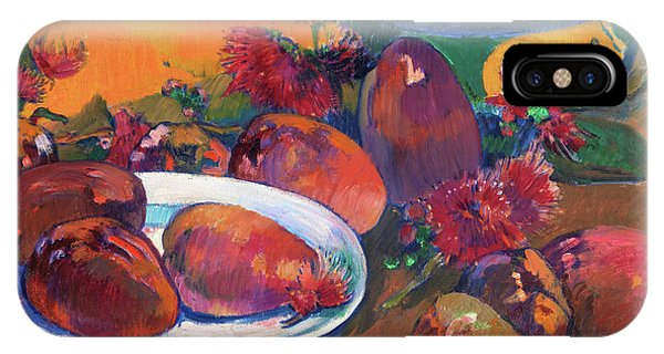 Mango iPhone Case - Stil Life With Mangos - Digital Remastered Edition by Paul Gauguin