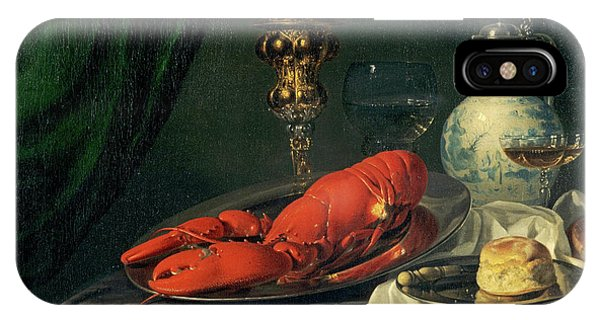 Lid iPhone Case - Still-life, 1650s by Simon Luttichuys