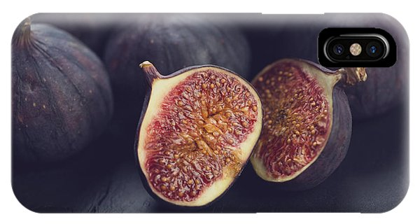Eating iPhone Case - Still Life Fruits Ripe Figs, Close-up by Nickola che