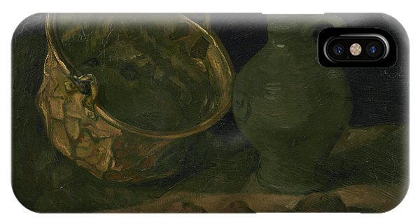 Van Gogh Museum iPhone Case - Still Life With Brass Cauldron And Jug by Vincent Van Gogh