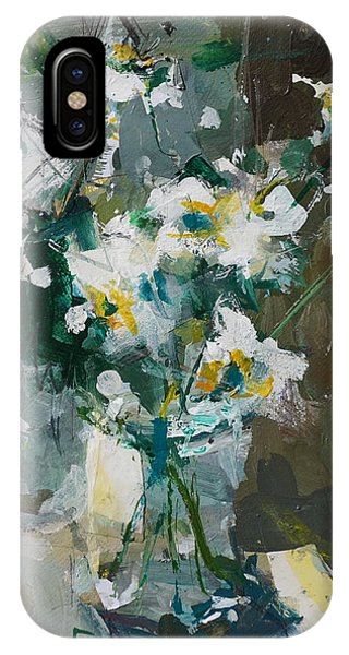 Still Life With White Anemones IPhone Case
