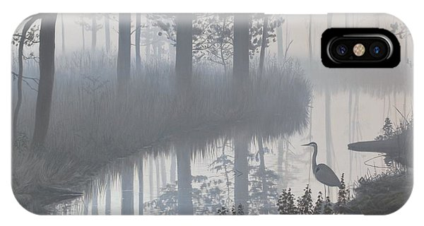 IPhone Case featuring the painting Still Waters by Peter Mathios