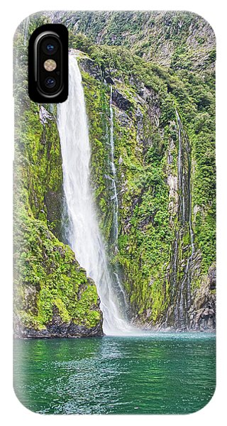 IPhone Case featuring the photograph Stirling Falls - Milford Soud - New Zealand by Steven Ralser