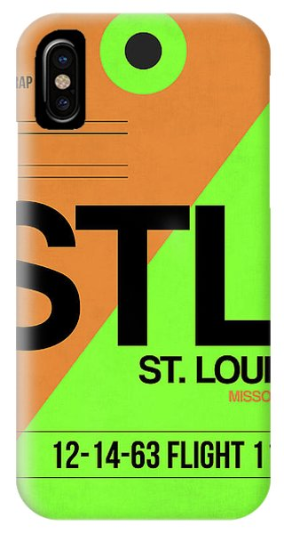Missouri iPhone Case - Stl St. Louis Luggage Tag I by Naxart Studio
