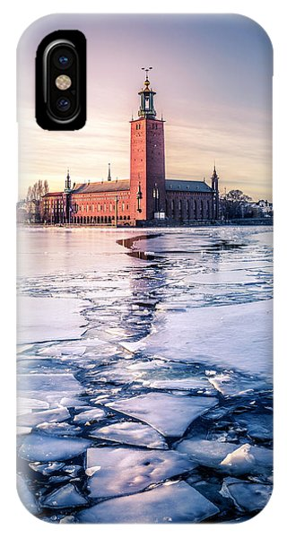 Swedish iPhone Case - Stockholm City Hall In Winter by Nicklas Gustafsson
