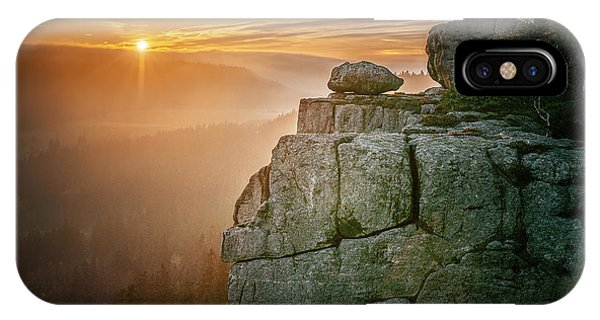 Hiking Path iPhone Case - Stolowe Mountains National Park In by Bestphotostudio