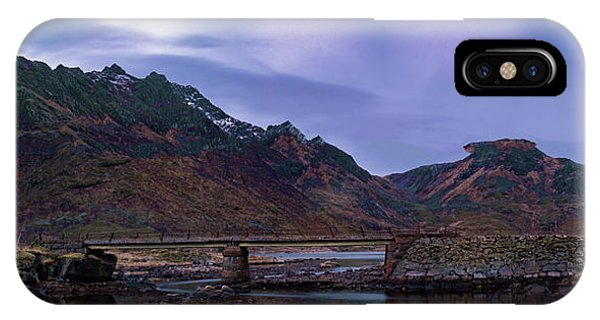 Stone Bridge On Lofoten Islands  IPhone Case