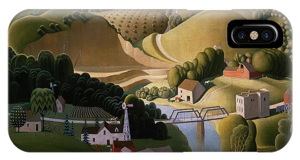 iPhone Case - Stone City, 1930 by Grant Wood