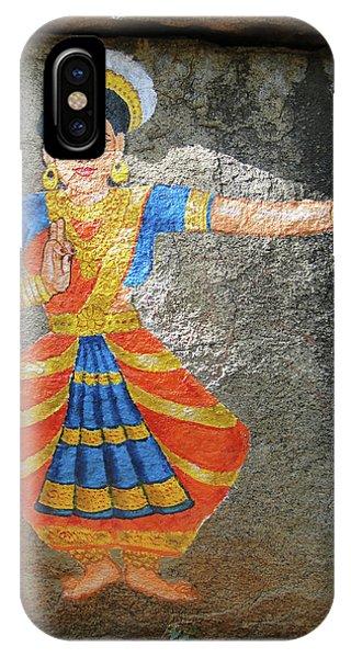 Stone Painting Of Nautch Dancing Gir IPhone Case