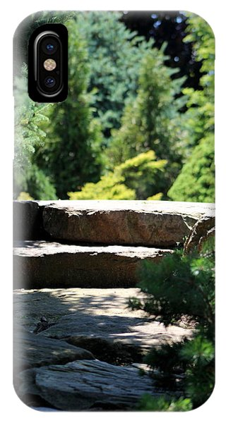 Stone Stairs In Chicago Botanical Gardens IPhone Case