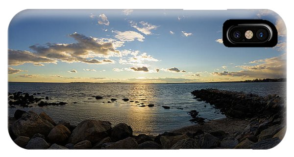 Stonington Point On The Rocks - Stonington Ct IPhone Case