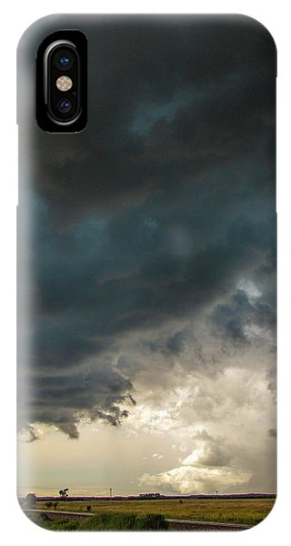 IPhone Case featuring the photograph Storm Chasin In Nader Alley 012 by NebraskaSC