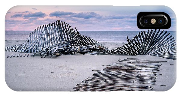 IPhone Case featuring the photograph Storm Fence Sunrise by Steve Stanger