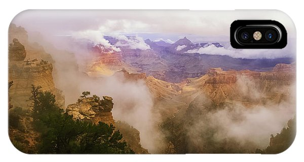 Storm In The Canyon IPhone Case
