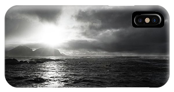 stormy coastline in northern Norway IPhone Case