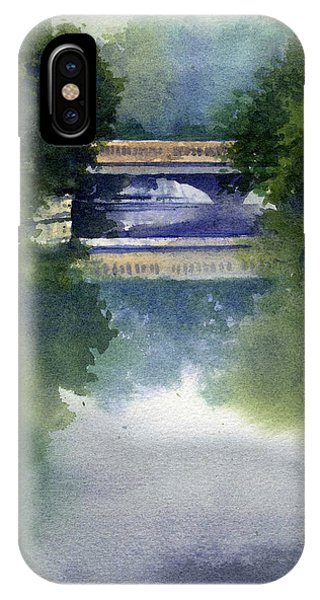 Stormy Day On Bridge Road IPhone Case