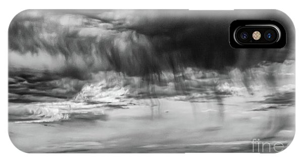 Stormy Sky In Black And White IPhone Case