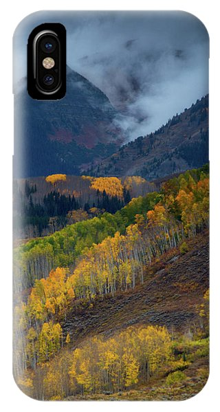 IPhone Case featuring the photograph Stormy Weather Over The Elks by John De Bord