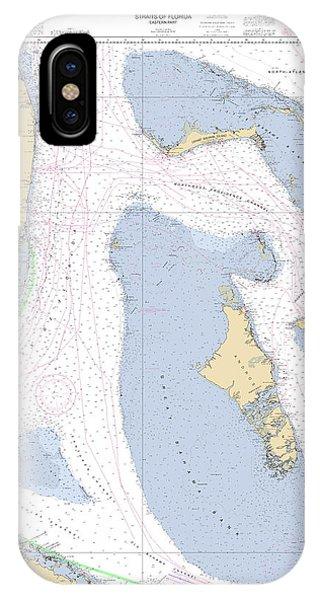 Straits Of Florida, Eastern Part Noaa Nautical Chart IPhone Case