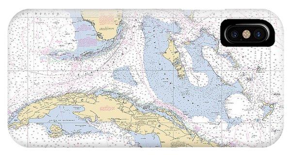 Straits Of Florida Nautical Chart IPhone Case